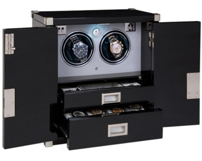RAPPORT MARINERS CHEST EBONY DUO WATCH WINDER