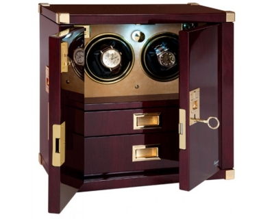 RAPPORT MARINERS CHEST MAHOGANY DUO WATCH WINDER